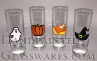 Set of 4 Halloween Shot Glasses