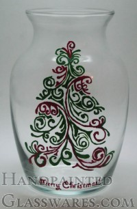 Merry Christmas Tree Vase