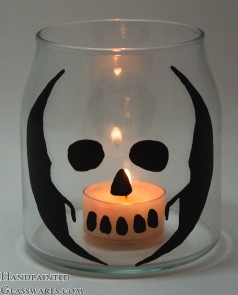 Skull Candle Holder Jar
