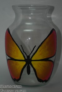 Butterfly Vase - Orange/Yellow/Pink
