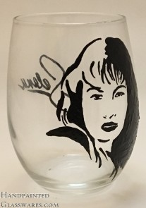 Selena Quintanilla with Signature Replica