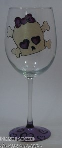 Skull with Purple Bow
