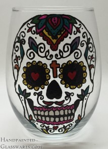 Sugar Skull with Cross