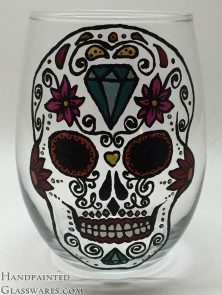 Sugar Skull with Diamond