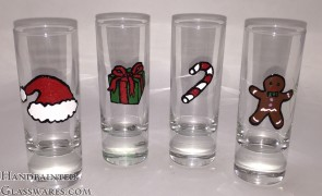 Set of 4 Christmas Shot Glasses